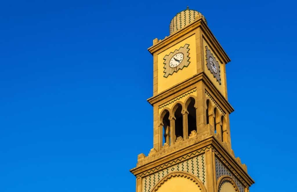 Clock tower in Casablanca